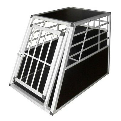 Large Aluminium Dog Transport Crate Vehicle Car Pet Cage Carrier Travel Box