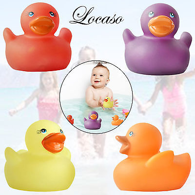 4 Rubber Colour Changing Ducks Fun Kids Bath Squeaky Toy New Baby Duck Time Heat