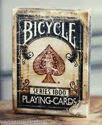 1800 Vintage Blue Deck Bicycle Playing Cards Poker Size USPCC Custom Limited New
