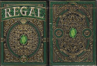 Regal Green Deck Playing Cards Poker Size EPCC Custom Limited Edition Sealed New