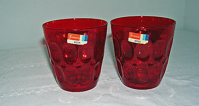 Fostoria Ruby Red Mesa Double Old Fashioned Glasses Set Of 2