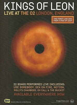Kings of Leon Live at the 02 London England ad 8 x 11 advertisement