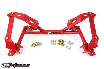 UMI Performance 82-92 Camaro F-Body Tubular K-member & A-arm Mount Coil Over Red