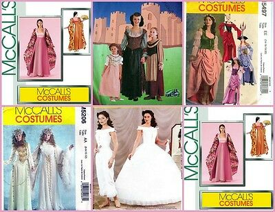 OOP McCall's Sewing Pattern Misses Renaissance Fantasy Medieval Costume You Pick