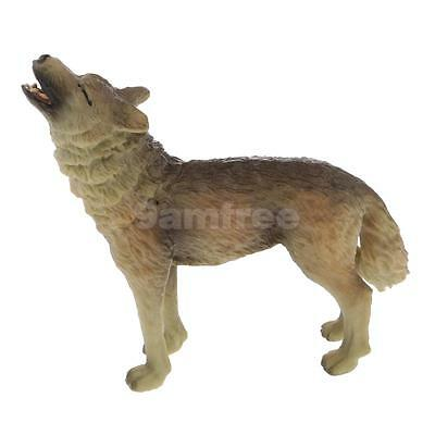 Realistic Howling Wolf Wildlife Animal Model Figure Kids Toy Collectibles