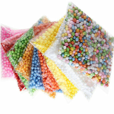 Lots Assorted Colors Mini Polystyrene Styrofoam Filler Foam Crafts Beads Balls