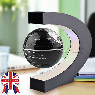 LED Light Decoration Magnetic Levitation Floating World Map Globe Decor Xmas HUS