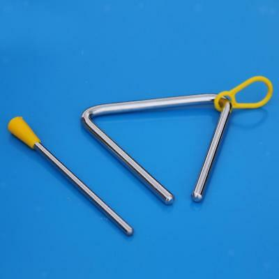 Kids METAL Percussion TRIANGLE MUSICAL INSTRUMENT Educational Toy with STRIKE