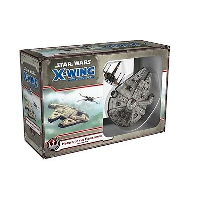 Fantasy Flight Star Wars X-Wing Heroes of the Resistance Expansion Free UK P&P