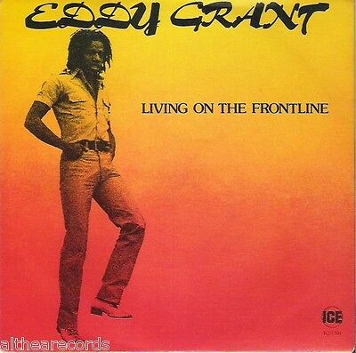 "EDDY GRANT - Living on the frontline - 7"" MINT ITALY"