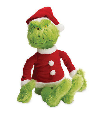 Dr Seuss Grinch in Santa Claus Suit Plush Toy How the Grinch Stole Christmas