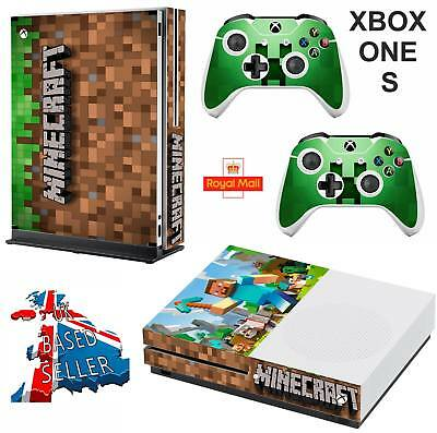 MINECRAFT xbox one S skins decals stickers  + 2 controllers game