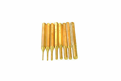 "Proops 8 Piece Brass Drive Pin Punch Set Nail Punch 1/16"" - 5/16"". M0227"