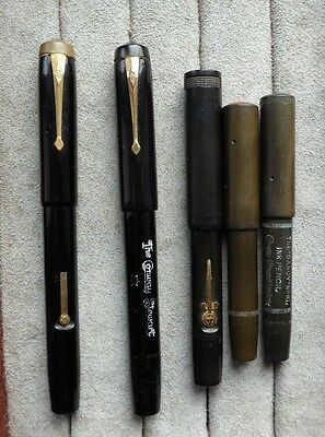Conway Stewart ink pens pencils stylos, The Dandy Nos.81 x 2, 121, 116 and star.