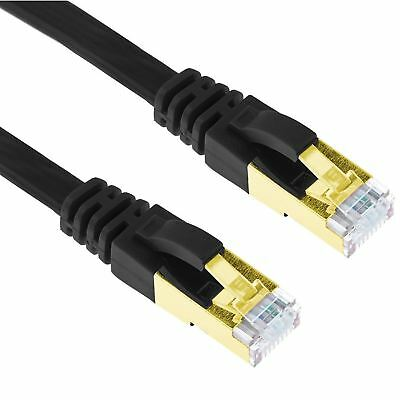 CAT7 Netzwerkkabel Patchkabel Flachkabel Ethernet Kabel LAN DSL 0,50m - 20m