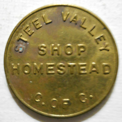 Homestead, Pennsylvania parking token - PA3463B