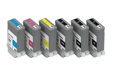 6 Patronen für Canon iPF670 iPF680 iPF685 iPF780 / PFI-107 Ink Cartridges 130ml