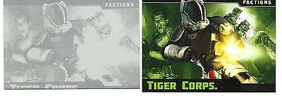 """Mars Attacks Occupation Topps no.68 """"TIGER CORPS"""" Black error printing plate 1/1"""