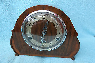 Vintage Art Deco Westminster Chime Perivale Mantel Clock For Restoration