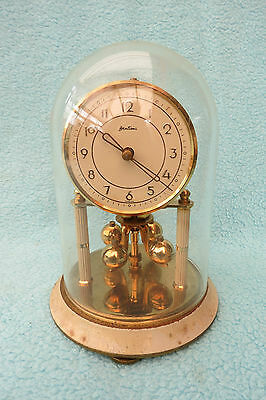 Small Vintage Bentima Anniversary/torsion Clock For Spares Or Repair