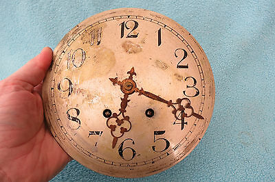 Large Antique French Clock Movement, Dial, And Hands