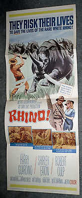 RHINO original 1964 14x36 movie poster SHIRLEY EATON/ROBERT CULP/HARRY GUARDINO