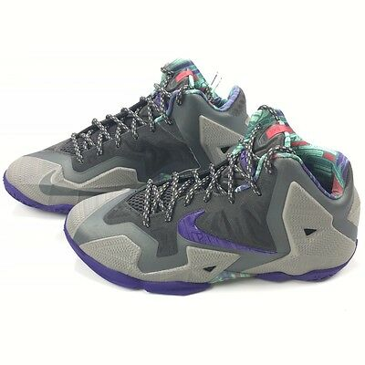 NIKE LEBRON XI SIZE 7Y NEW Terracotta Warrior Youth Basketball Shoes 621712 003