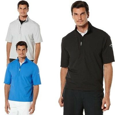 Callaway Mens Short Sleeve Stretch Golf Windshirt Multiple Colors Available New