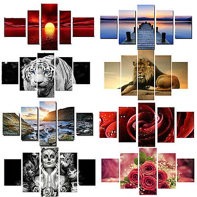 5Piece HD Printed Modern Painting On Canvas Room Decoration Print Poster 9Kinds