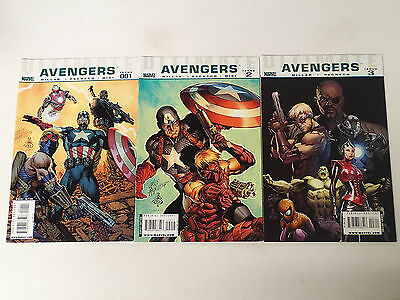 ULTIMATE AVENGERS lot of 3 issues #1-3  Marvel Comics 2009 VF Mark Millar