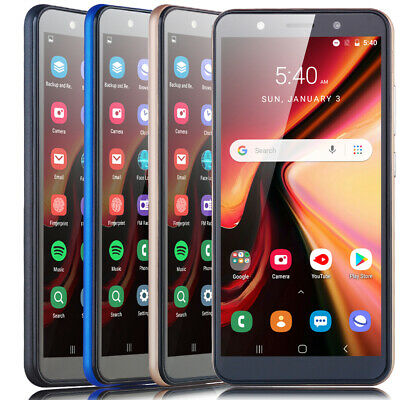 "6.0"" Cheap Factory Unlocked Android 8.1 Cell Smart Phone Quad Core Dual SIM 3G"