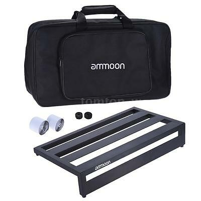 ammoon Portable Guitar Effect Pedal Board with Bag Mounting Tapes Black US I5W6
