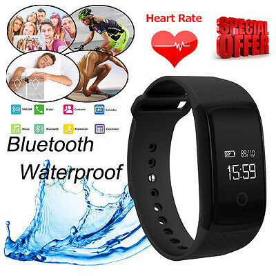 Heart Rate NFC HD Bluetooth Smart Sport Watch Fitness Tracker For iOS/Android UK