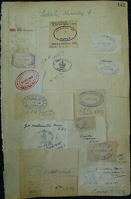 Great Britain Official Mail World War Two Handstamps Ministry Of Supply 1942/48