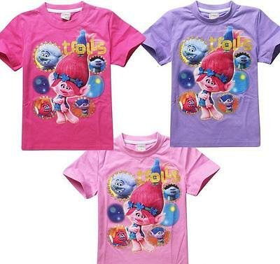 Trolls girls tshirt, t shirt, summer, troll, various sizes/colours - FREE POST!