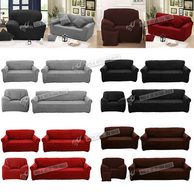 Easy Stretch Sofa Slipcover Stretch Protector Soft Couch Cover 1/2/3/4  Seater