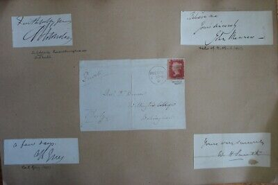 GREAT BRITAIN AUTOGRAPHS 19th CENTURY PRIME MINISTERS