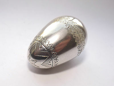 DELIGHTFUL RARE ANTIQUE GEORGIAN SOLID SILVER COMBINATION  EGG VINAIGRETTE c1800