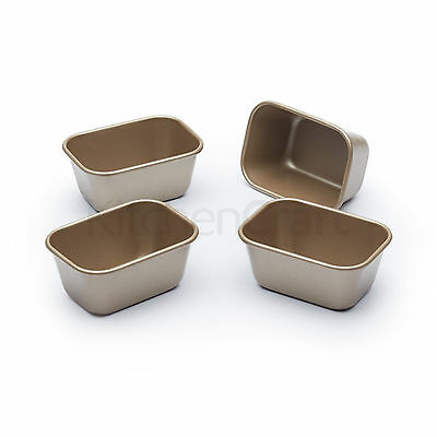 Paul Hollywood Set Of 4 Mini Loaf Tins Small Petite Non-Stick Cake Baking Cases