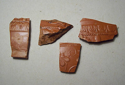 Nice decorated Roman terra sigillata Samian ware pottery shards Lot nr. 3