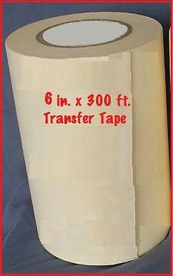"6"" APPLICATION TRANSFER Paper TAPE 300 ft. roll for Vinyl Cutter PLOTTER FRESH**"