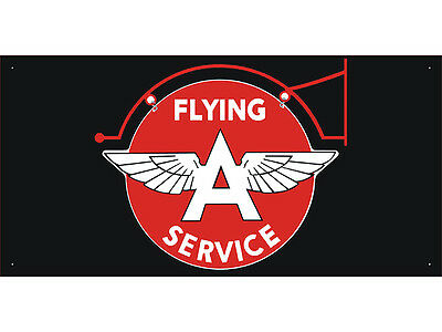 Flying A Service Car Auto Parts Club Shop Display Advertising Banner