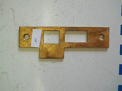 old DOOR KNOB LATCH CAST BRONZE STRIKE PLATE