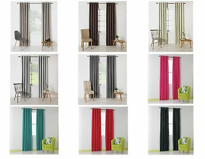 ColourMatch Blackout Thermal Eyelet Curtains - Choice of Size and Colour