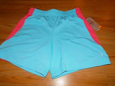 Girl's Size Medium 7-8 Danskin Now Light Blue Coral Active Athletic Shorts New