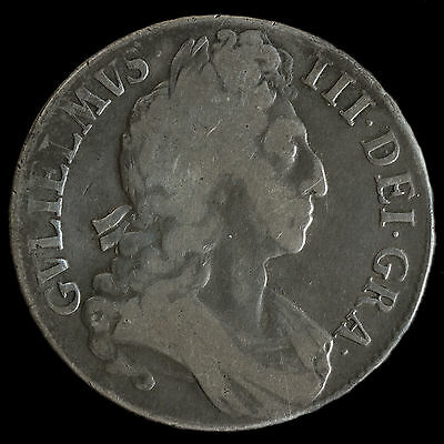 1696 William III Early Milled Silver Octavo Crown – Third Bust