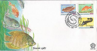 1987 INDONESIA Fish FDC