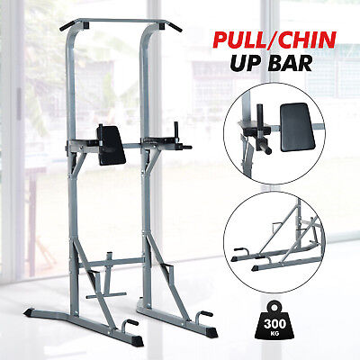 AB Trainer Fitness Power Tower VKR Pull & Dip Chin Up Bar Station Workout Home