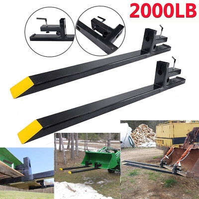 """60"""" 2000lbs capacity Clamp on Pallet Forks Loader Bucket Skidsteer Tractor Chain"""