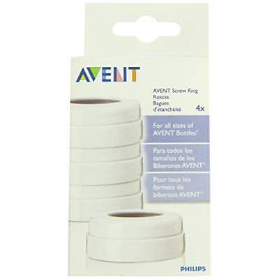 Philips AVENT BPA Free Classic Bottle Screw Rings, 4-Pack New